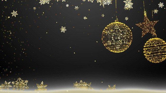 best black christmas ornaments